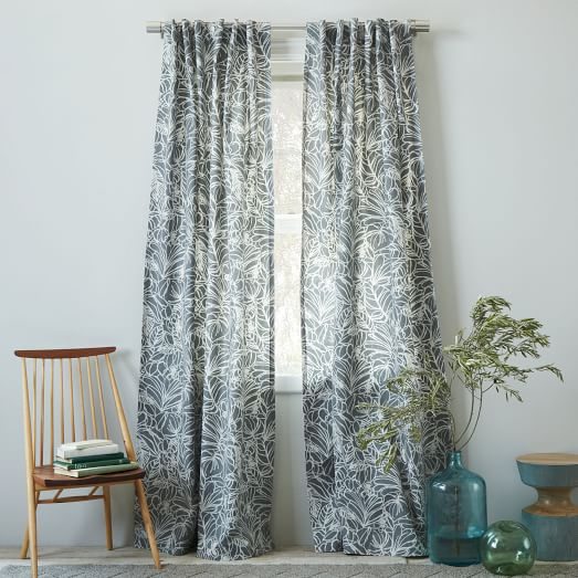 Cotton Canvas Sketch Curtain, 48