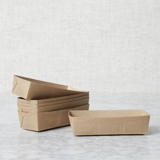 Paper Bakeware, Craft, 6 Pc Rectangular Loaf