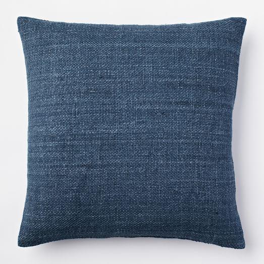 Silk Handloomed Pillow Cover, 20'x20', Blue Lagoon