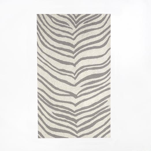Safari Rug, 3'x5', Ivory/Platinum