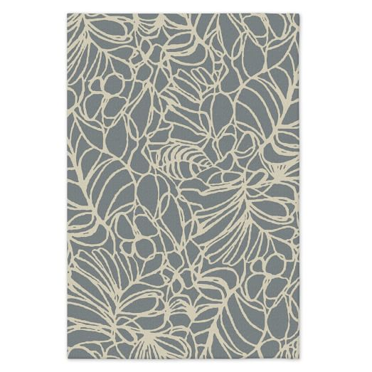 Custom Sketch Rug, Blue Sage, 12'x18'