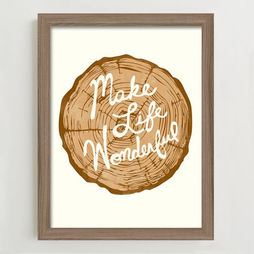 Framed Print, Make Life Wonderful