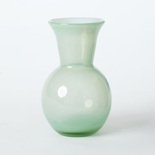 Flared Top Round Vase, Sea Spray
