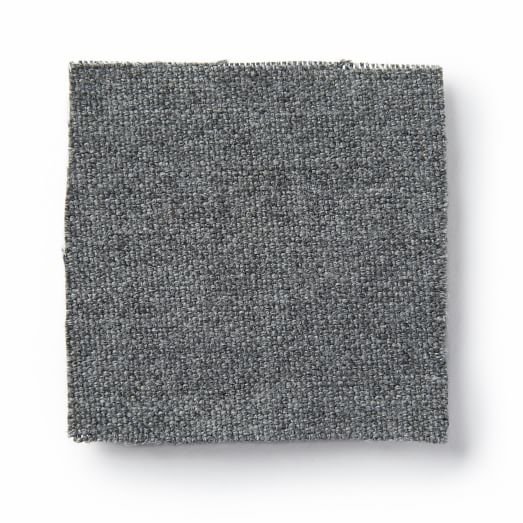 Fabric By The Yard - Heathered Wool, Cinder