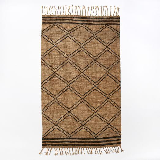 Samaya Soumak Jute Rug, 8'x10', Natural