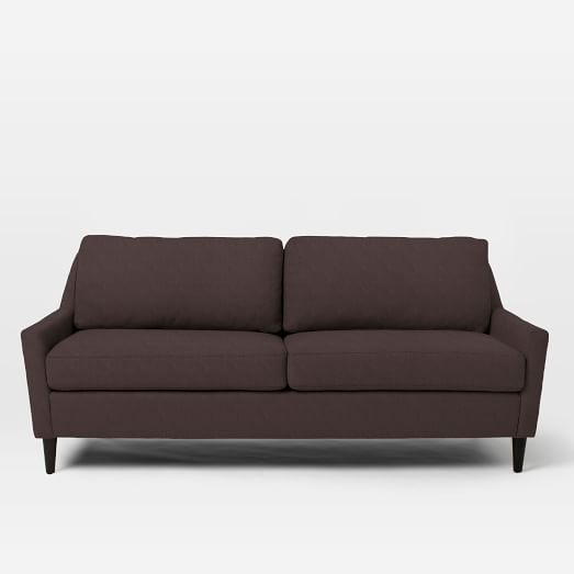 "Everett 76"" Sofa, Basketweave, Iron"