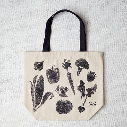 Market Tote Bag, Veggies