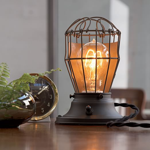 Clover Industrial Desk Lamp, Oil Rubbed Bronze with UL Black Braided Cord