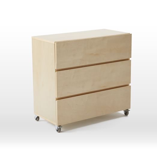 Monorail Closet System, 3-Drawer Unit