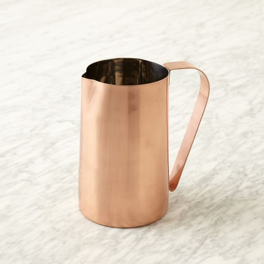 Copper Plated Pitcher With Stainless Steel Interior
