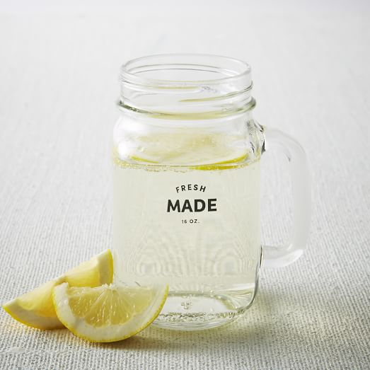 Fresh Made Labelled Mug Glass
