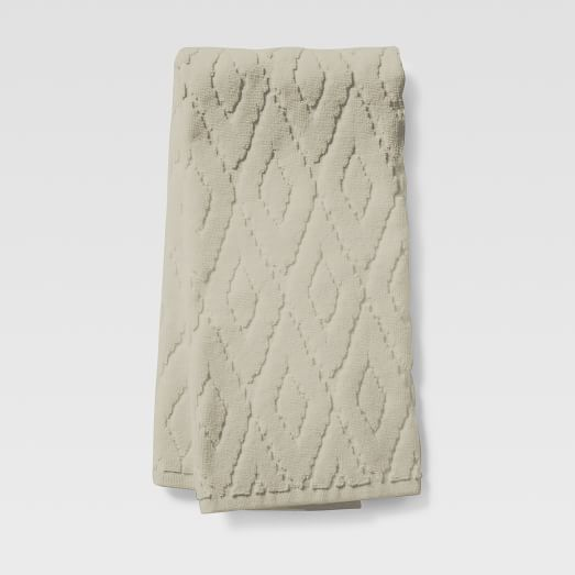Organic Sculpted Diamond Hand Towel, Sand