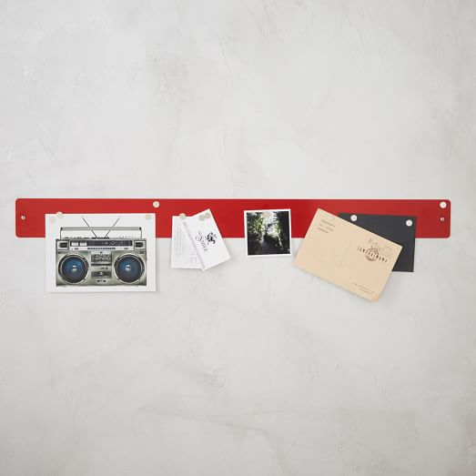 Magnetic Strip Bulletin Board, Red