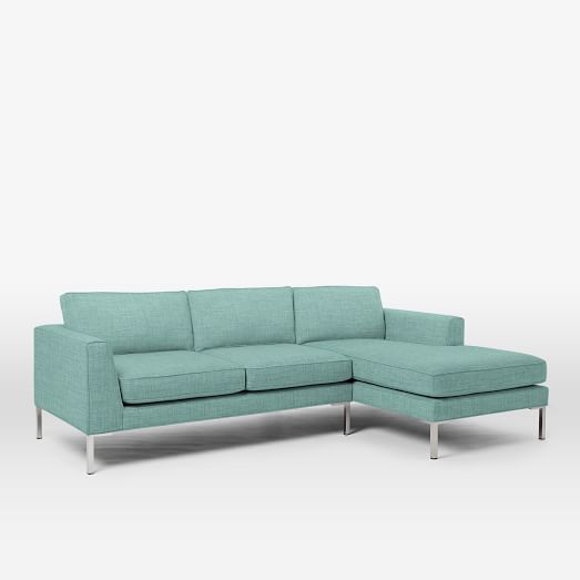 Marco 2 piece chaise sectional west elm for Chaise eucalyptus