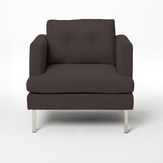 Jackson Armchair, Basketweave, Iron