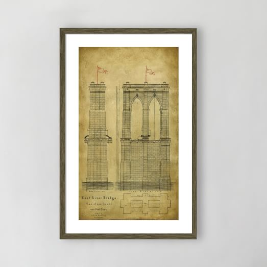 Framed Print, East River Bridge II, 18
