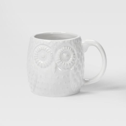 Figural Mug, Owl, Espresso