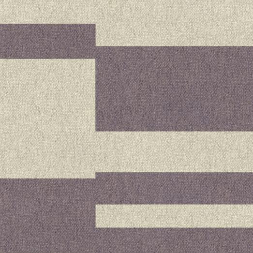 Custom Offset Stripe Dhurrie, Dark Iris, 16'x16' Swatch