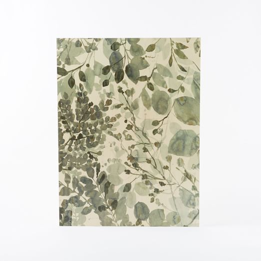 Botanicals on Birch Wall Art, Multi Botanical on Birch
