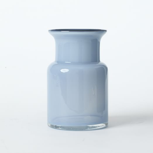 Flared Top Straight Vase, Frost Big Sky