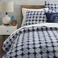 Chalk Dottie Duvet Cover, Twin, Nightshade