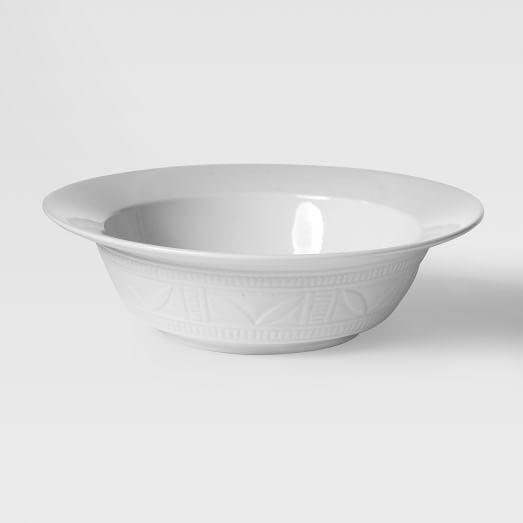 Loren Kaplan Soup Plates, Set of 4, White