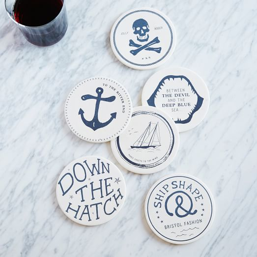 Sailer Coasters, Set of 6