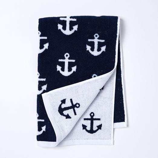 Anchor Jacquard Hand Towel