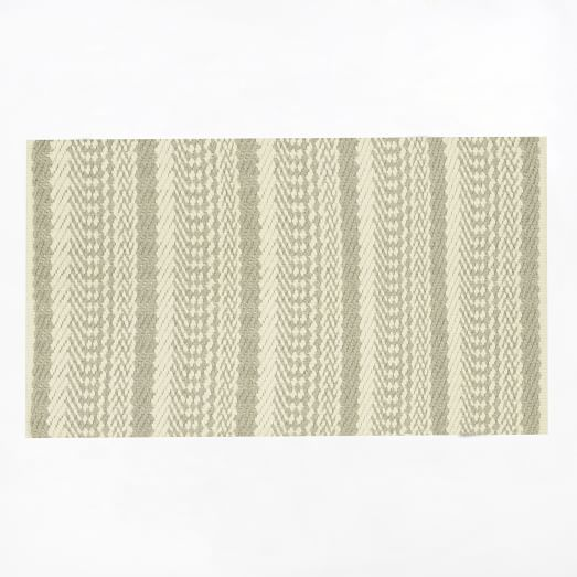 Fairisle Rug, 2'x3', Ivory/Feather Gray