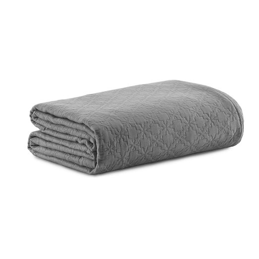 Organic Matalesse Mosaic Duvet, Twin, Feather Gray
