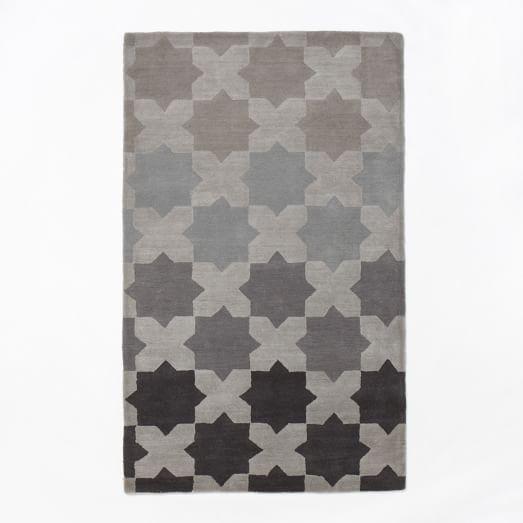 Illusion Rug, 5'x8', Slate