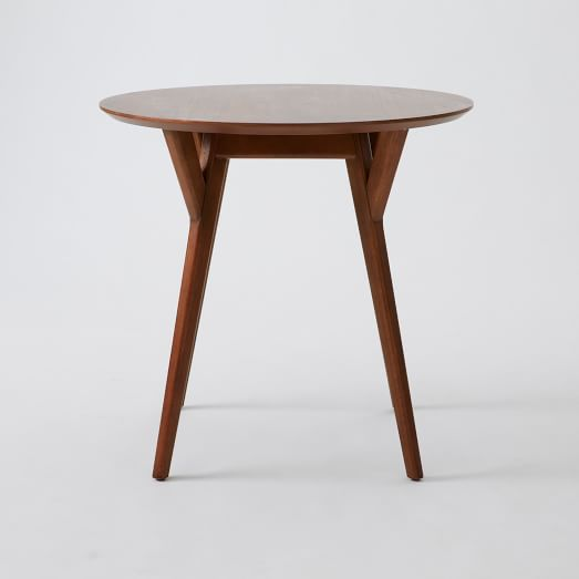 Mid-Century Bistro Table, Walnut