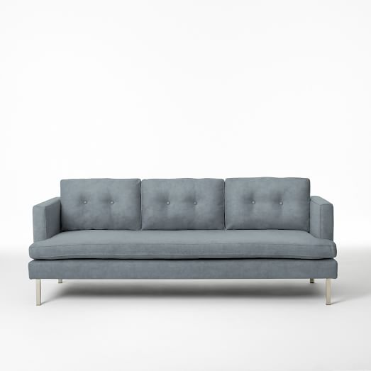 "Jackson 88"" Sofa, Performance Velvet, Steel Blue"