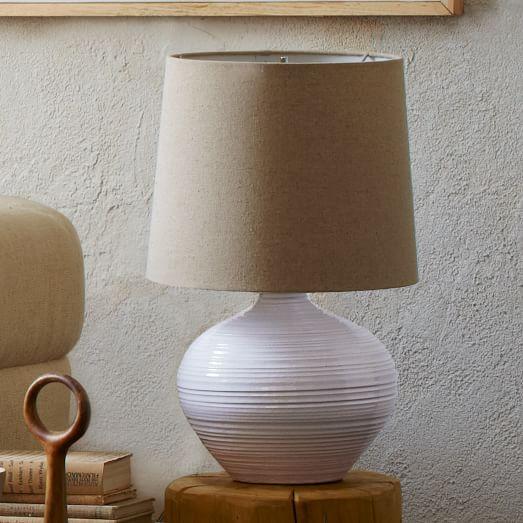 Channel Ceramic Table Lamp, Small, Non-CFL