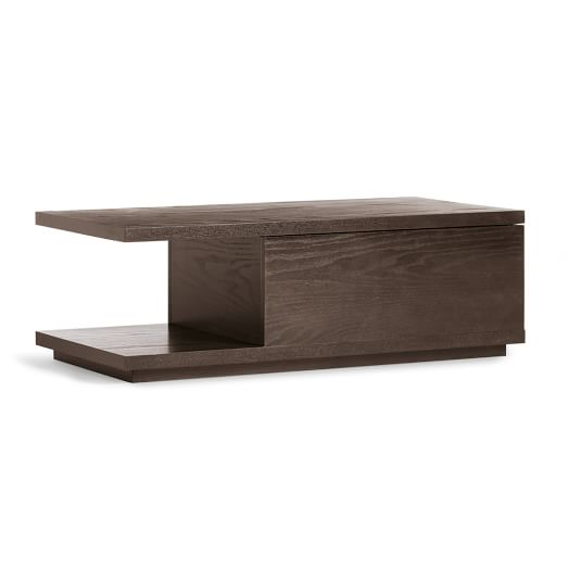 Sliding top coffee table chocolate west elm for West elm coffee table sale