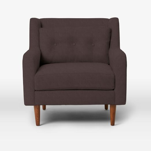 Crosby Armchair, Basketweave, Iron