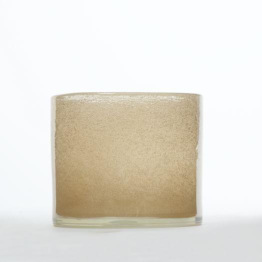 Iridescent Glass Hurricane, Small, Rose Gold