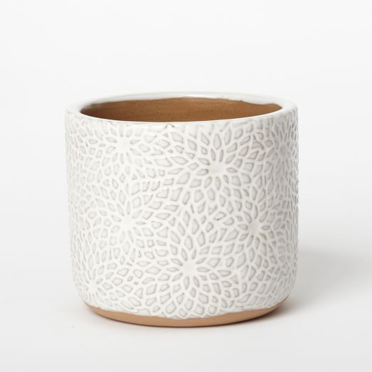 Patterned Pot, Flowers