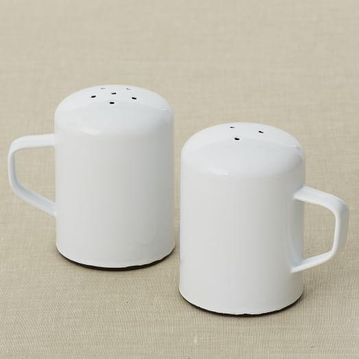 Enamelware Serveware, Salt + Pepper Shaker