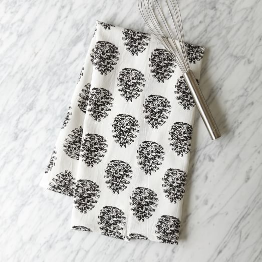 Pine Cone Napkin, Stone White/Iron, Set Of 4