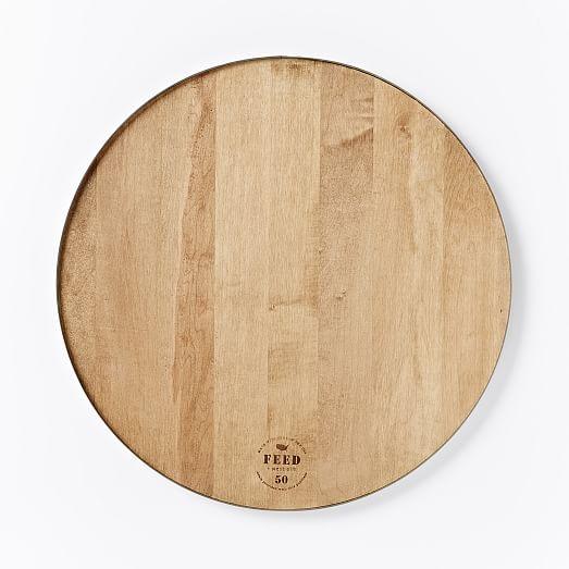 Feed Round Wood Steel Cutting Board West Elm