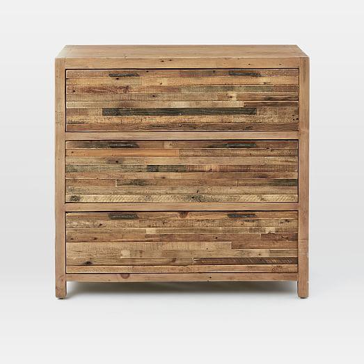 Bay Reclaimed Pine 3-Drawer Dresser - Rustic Natural | west elm