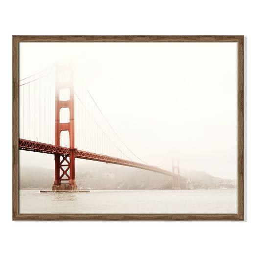 framed print the golden gate bridge west elm. Black Bedroom Furniture Sets. Home Design Ideas