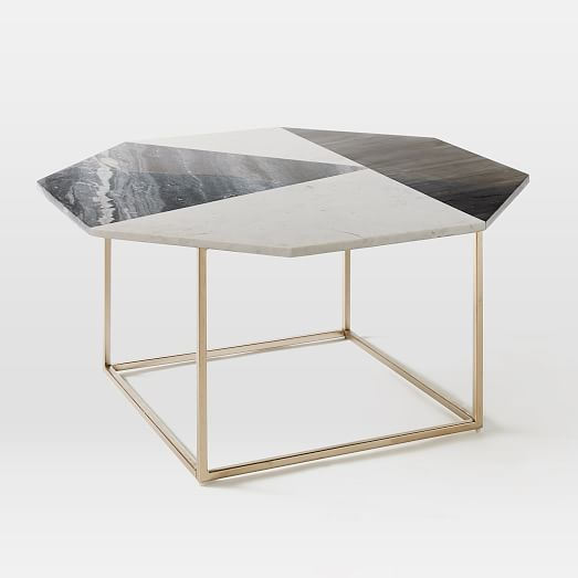 Marble Coffee Table: Marquetry Marble Coffee Table