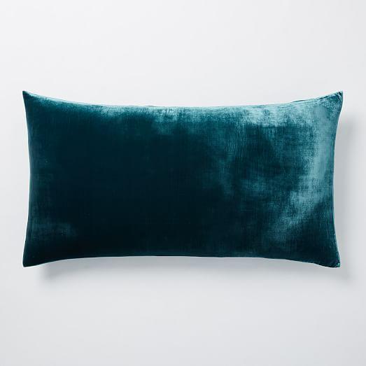 Luxe Velvet Duvet Cover + Shams - Blue Teal