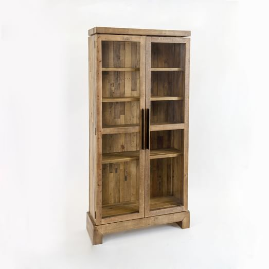 Emmerson™ reclaimed wood display cabinet west elm