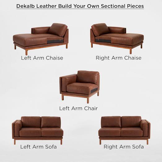 build your own dekalb sectional pieces west elm. Black Bedroom Furniture Sets. Home Design Ideas
