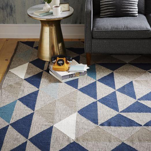 Kilim Rug John Lewis: Framed Triangles Wool Kilim Rug