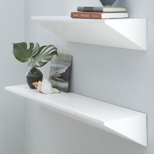 Floating Wedge Shelf White West Elm