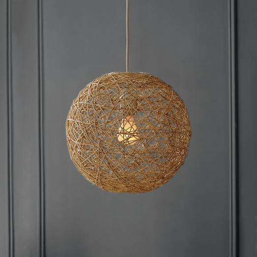 woven abaca pendant west elm. Black Bedroom Furniture Sets. Home Design Ideas